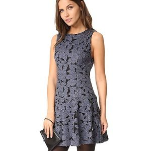 Alice + Olivia Blue and Black Dress
